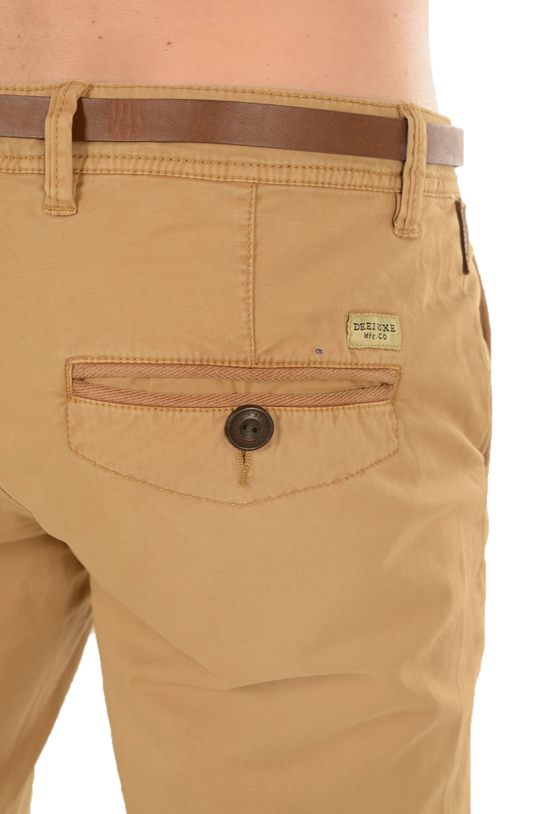 Pantalons chino/citadin  Deeluxe STEVAN TABAC