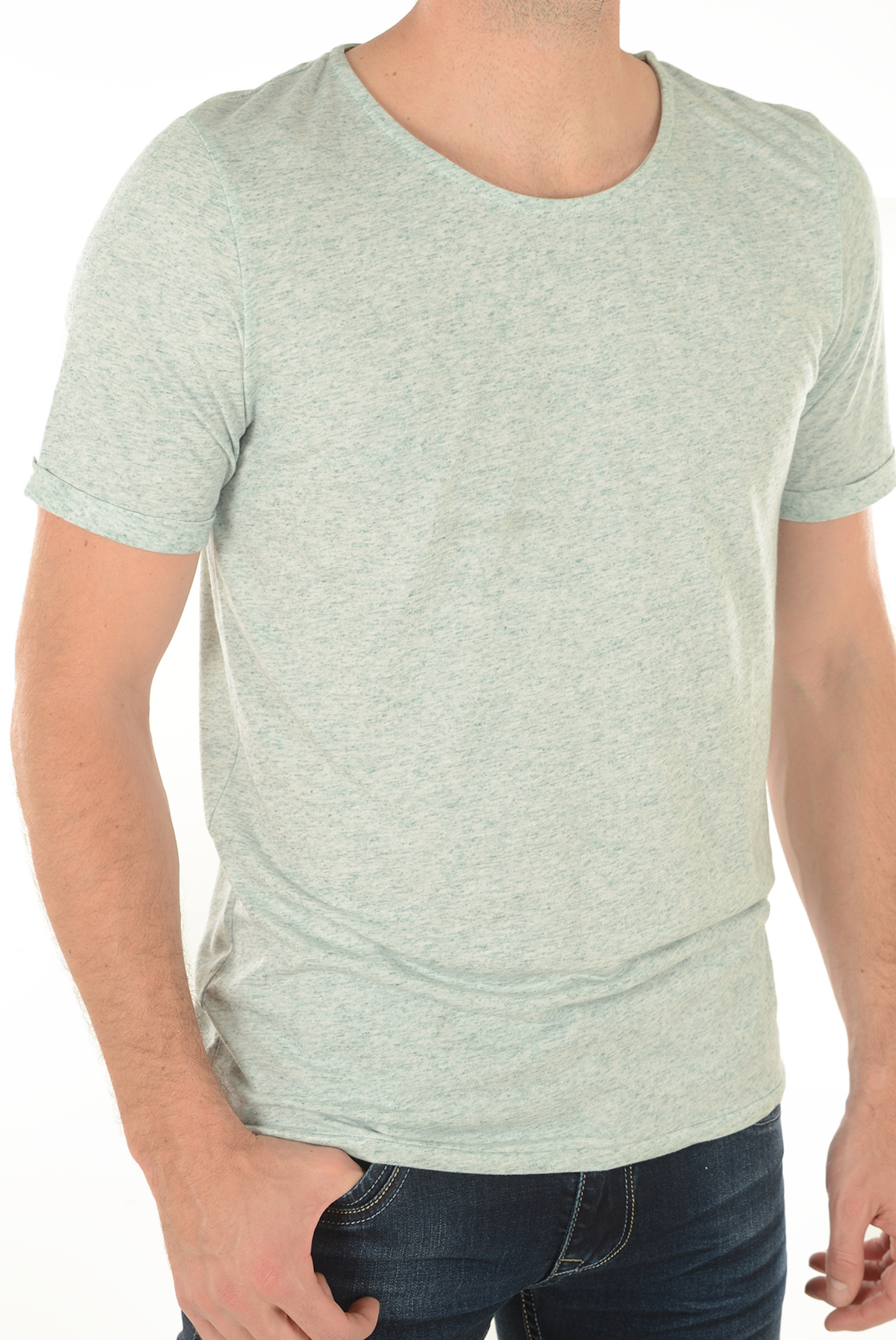 T-S manches courtes  Jack & Jones RANDY TEE SS MIST GREY