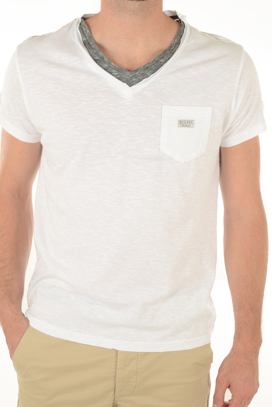 Tee-shirts manches courtes  Deeluxe ARTEMIS BLANC