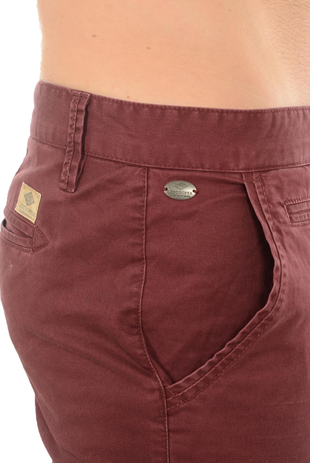 Pantalons chino/citadin  Lee cooper NATHAN 5133 DK RED