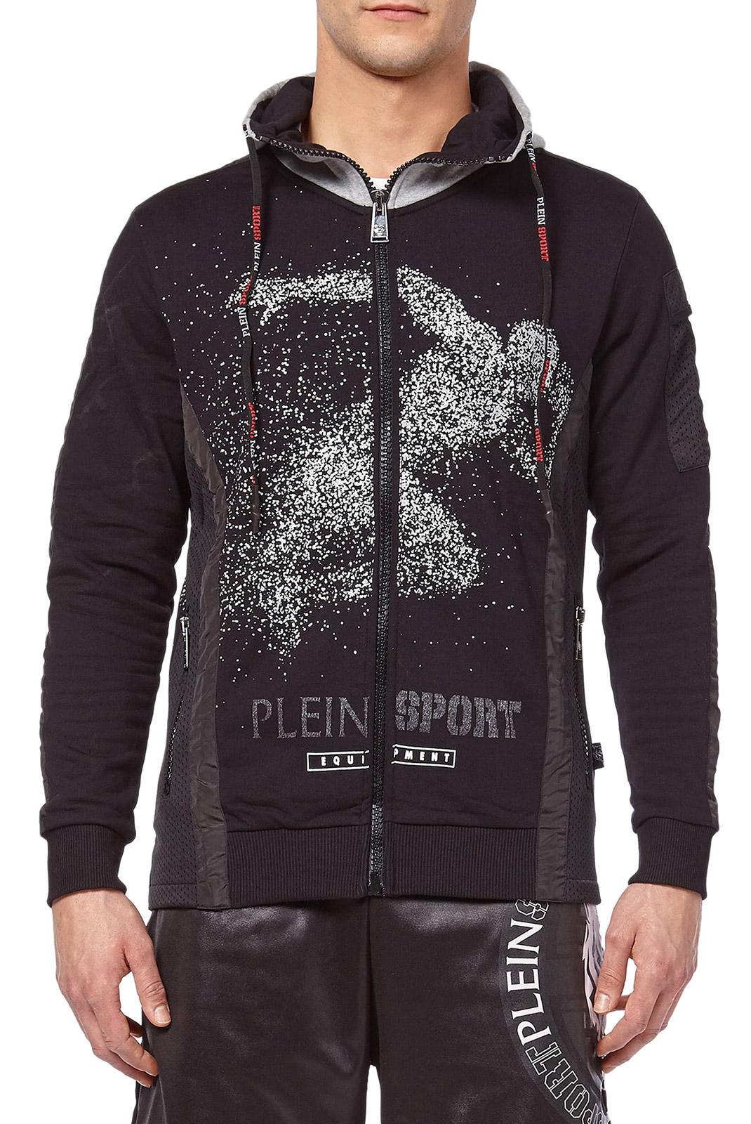 Vestes zippées  Plein Sport P17C MJB0134 02 BLACK