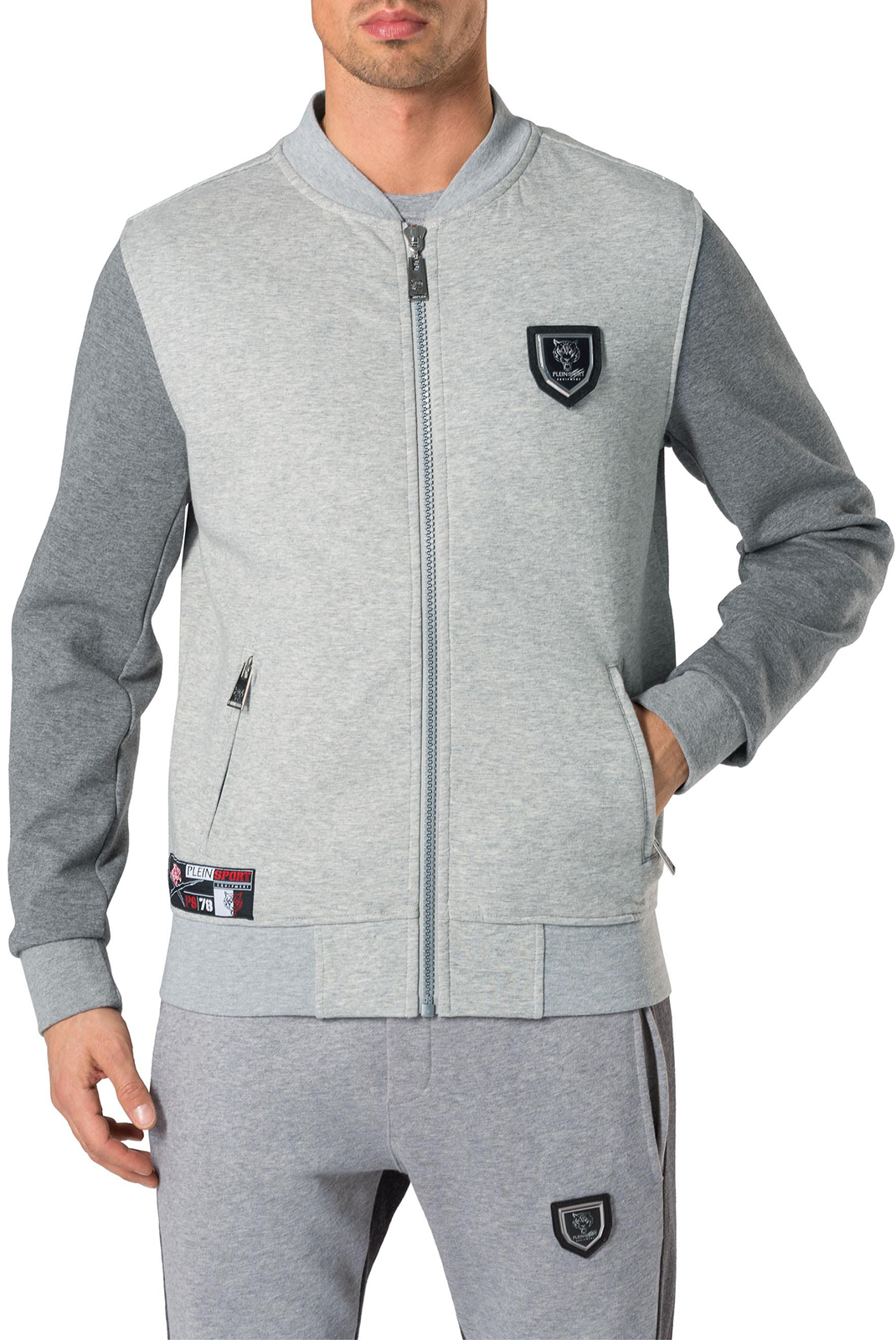 Vestes zippées  Plein Sport P17C MJB0070 S005 CHARCOAL GREY
