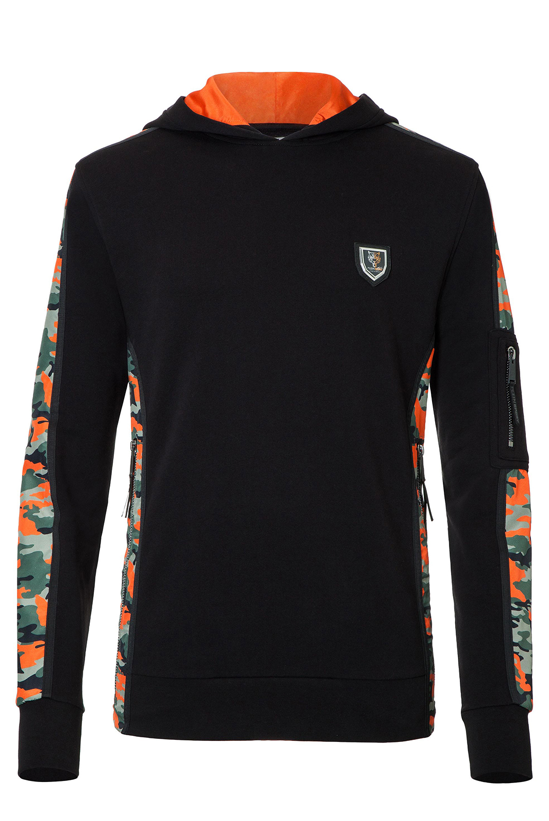 Sweatshirts  Plein Sport P17C MJB0073 02O4 BLACK ORANGE