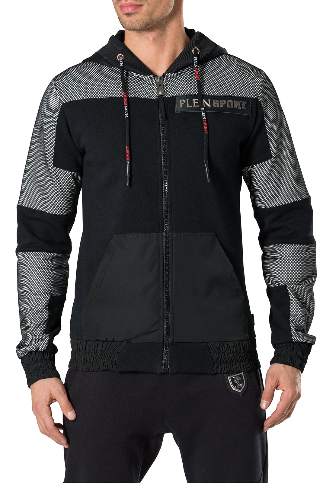Vestes zippées  Plein Sport P17C MJB0081 02 BLACK