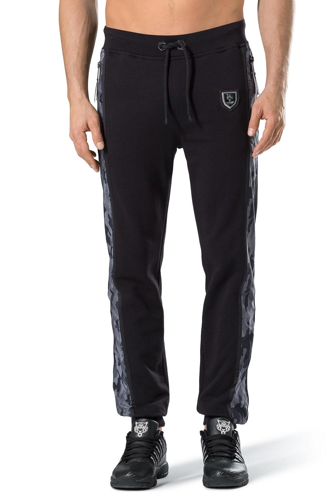 Pantalons sport/streetwear  Plein Sport P17C MJT0116 02O2 BLACK/BLACK