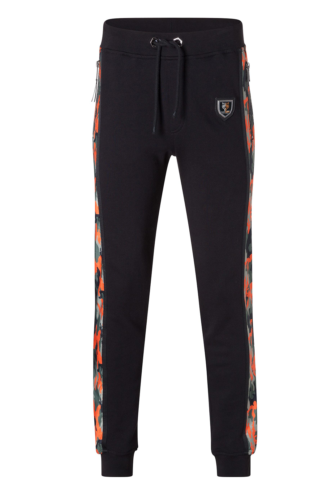 Pantalons sport/streetwear  Plein Sport P17C MJT0116 02O4 BLACK ORANGE