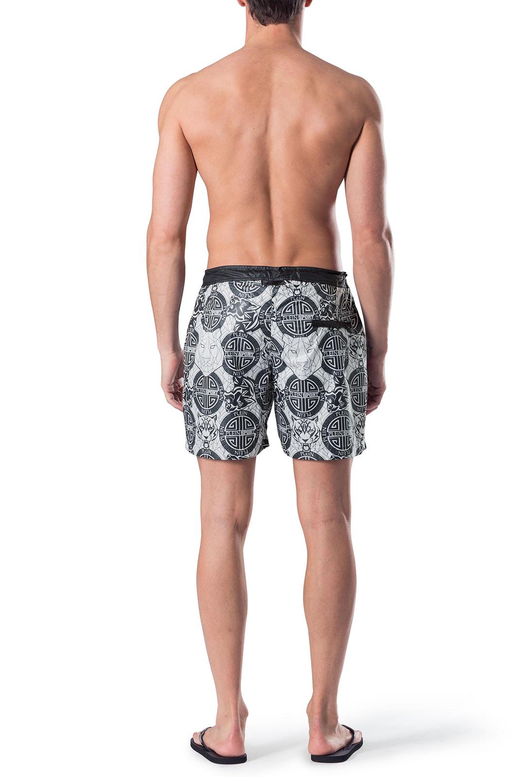 Shorts de bain  Plein Sport P17C MMT0035 01 WHITE