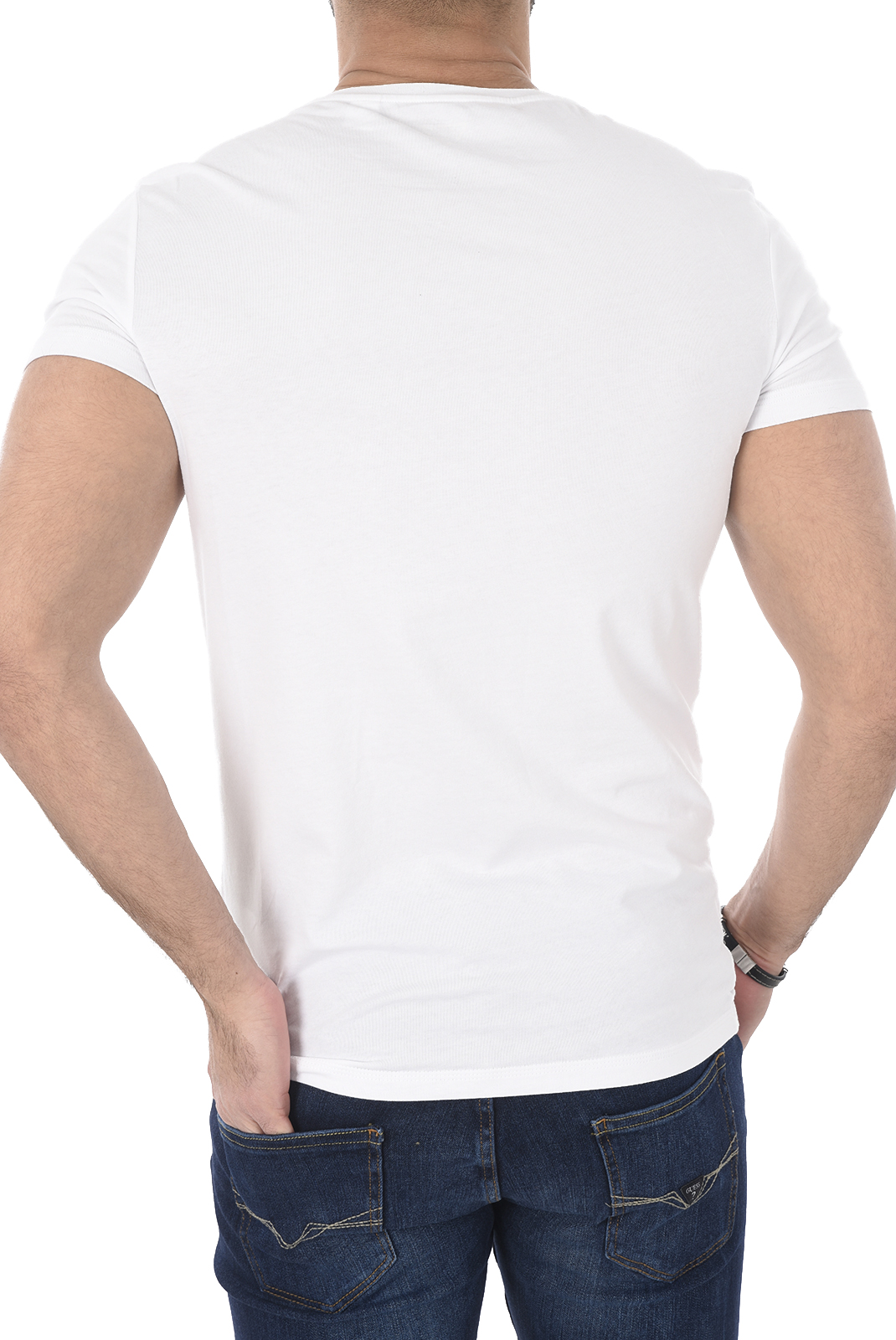 Tee-shirts manches courtes  Guess jeans U77G13 JR003 A009 OPTIC WHITE