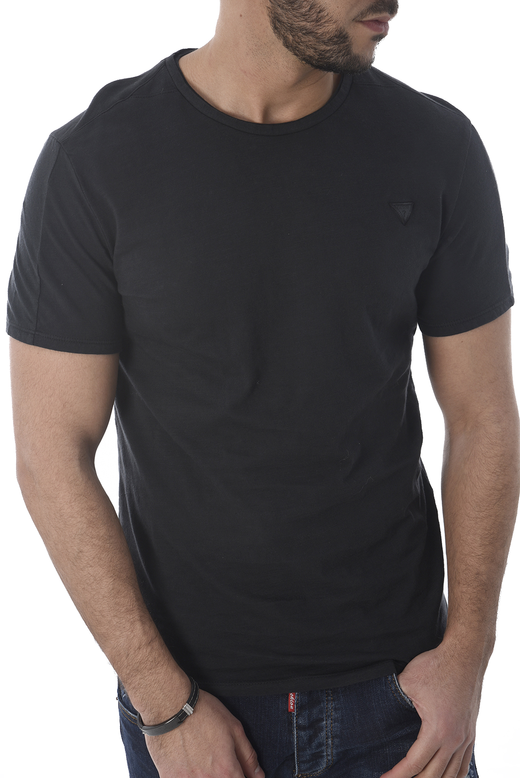 Tee-shirts manches courtes  Guess jeans M82I10 K6XN0 F9P1 BLACK