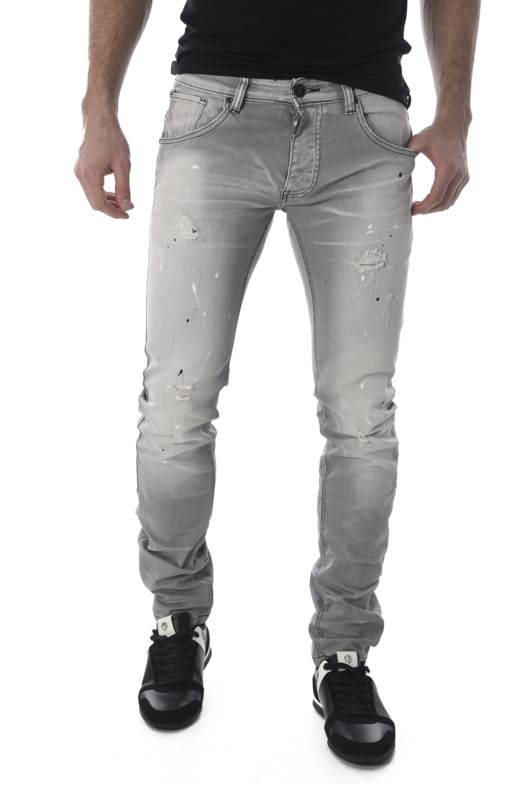 Jean slim / skinny  One two one two EF2500S GRIS
