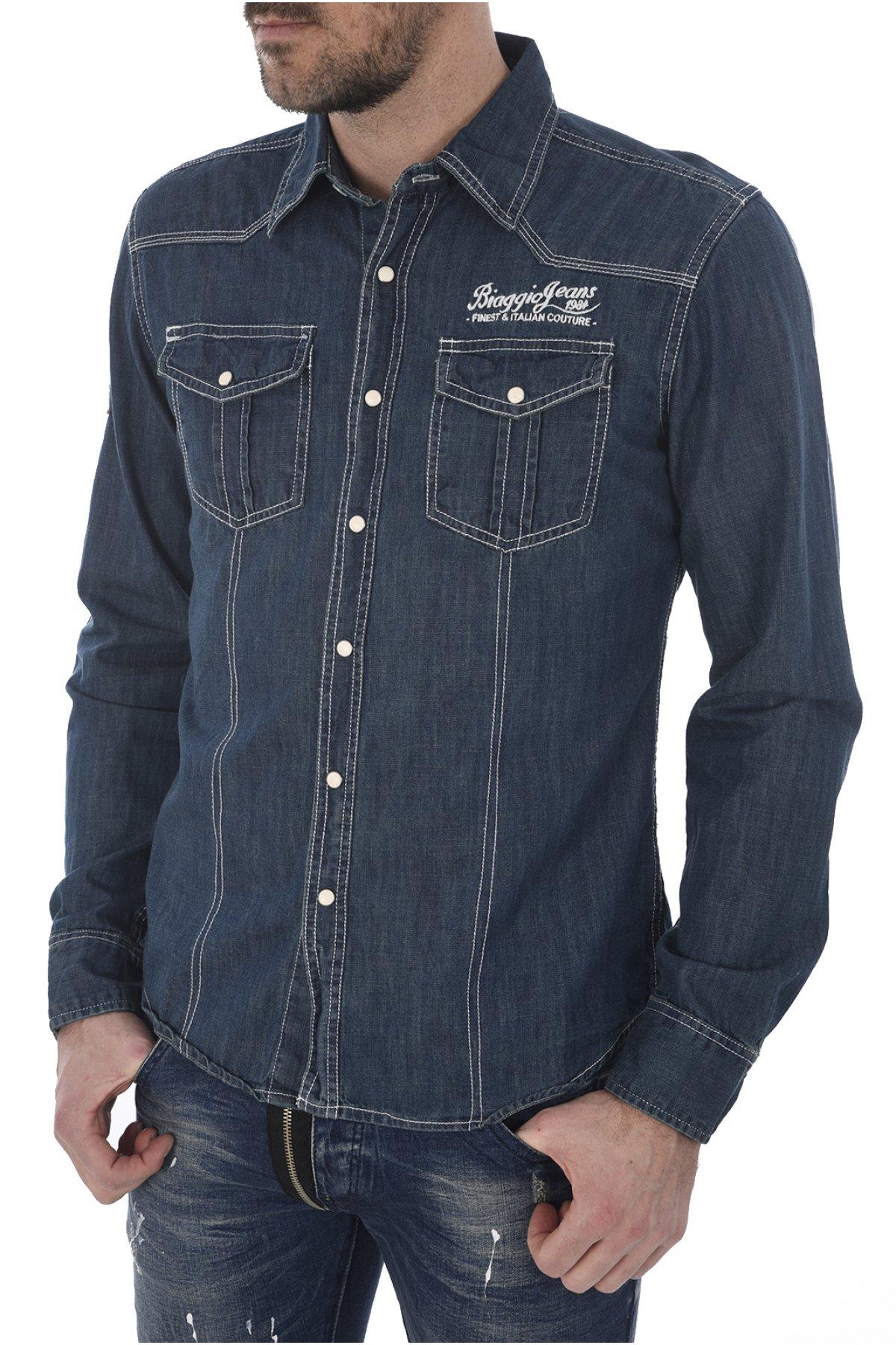 Chemise Coton Denim Fantaisie Caforal - Biaggio Jeans