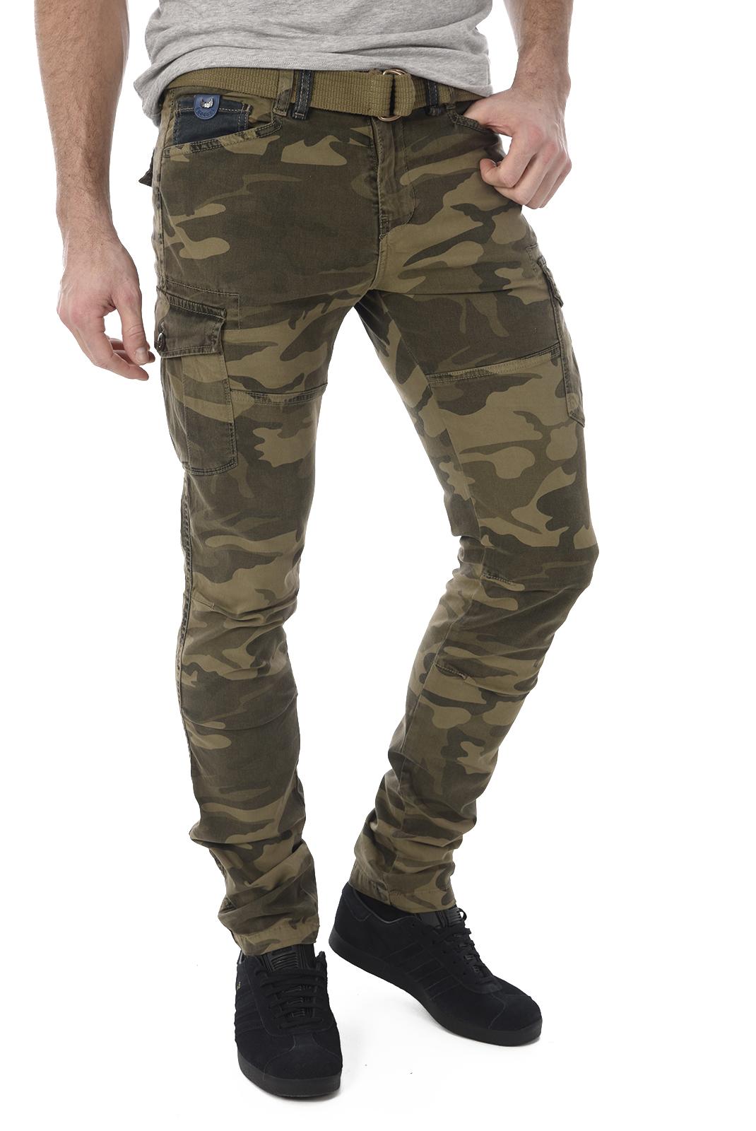 Pantalons chino/citadin  Kaporal KALI GREEN CAMOU