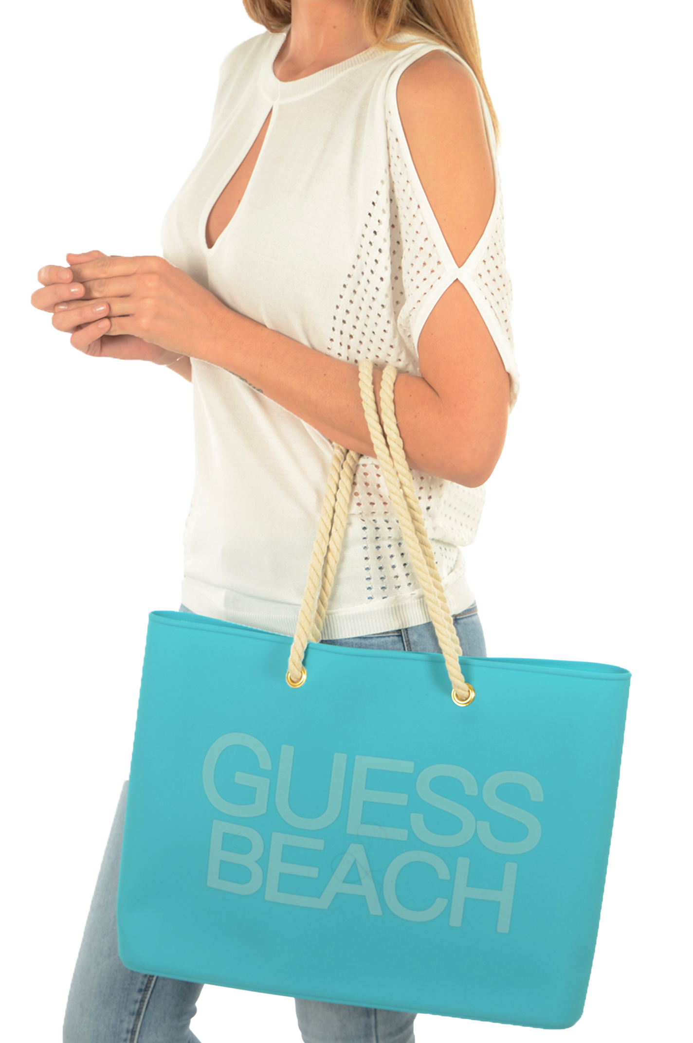 Cabas / Sacs shopping  Guess jeans E82Z03 BB005 G7G5 CAPRI BREEZE