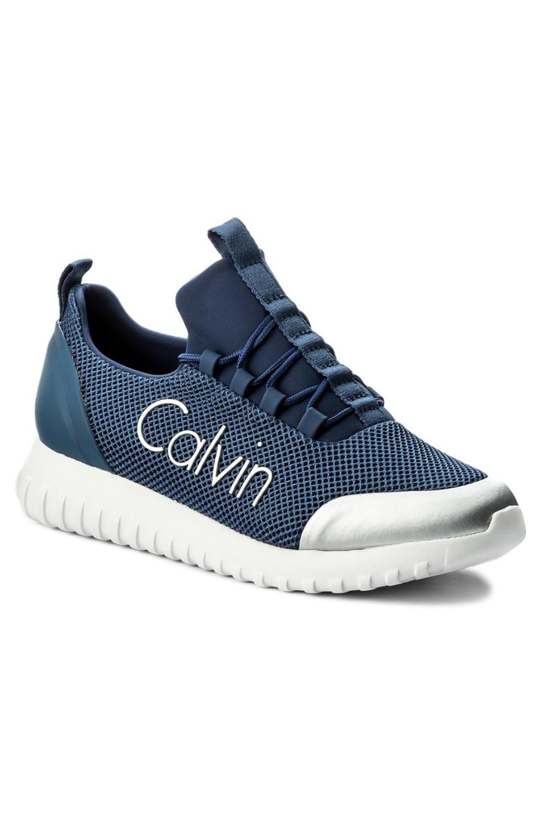 Calvin Klein Jeans Chaussures Ron Steel Blue Silver Calvin Klein Jeans soldes 446GqRr
