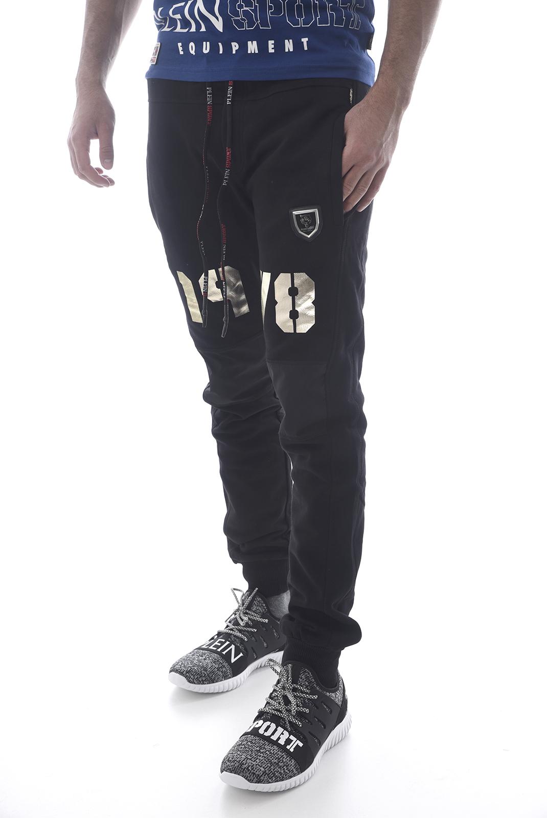 Pantalons sport/streetwear  Plein Sport P17C MJT0148 02L BLACK GOLD