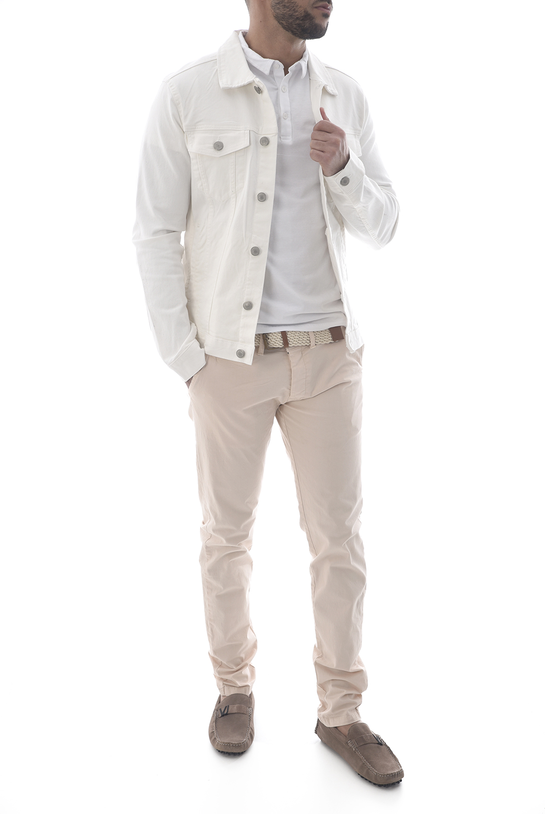 Pantalons chino/citadin  Backlight ALLEN ROSE PALE
