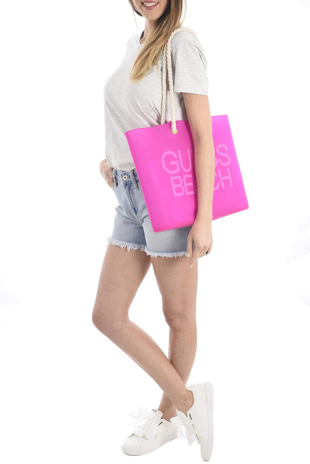 Cabas / Sacs shopping  Guess jeans E82Z03 BB005 E466 PURPLE