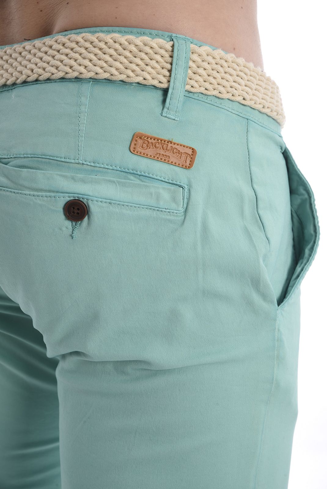Pantalons chino/citadin  Backlight ALLEN SEA GREEN