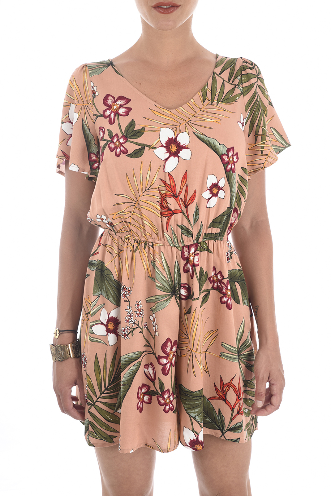 Combinaisons & Salopettes  Only RANDI S/S PLAYSUIT ROSE DAWN/CREOLE