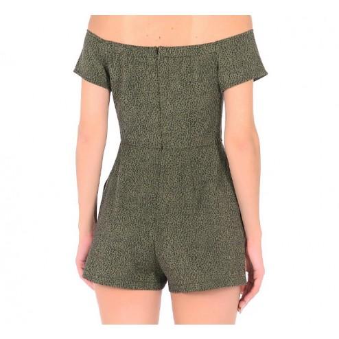 Shorts  Guess jeans W72D72 W8IE0 FT86 LEOPARD DK GREEN