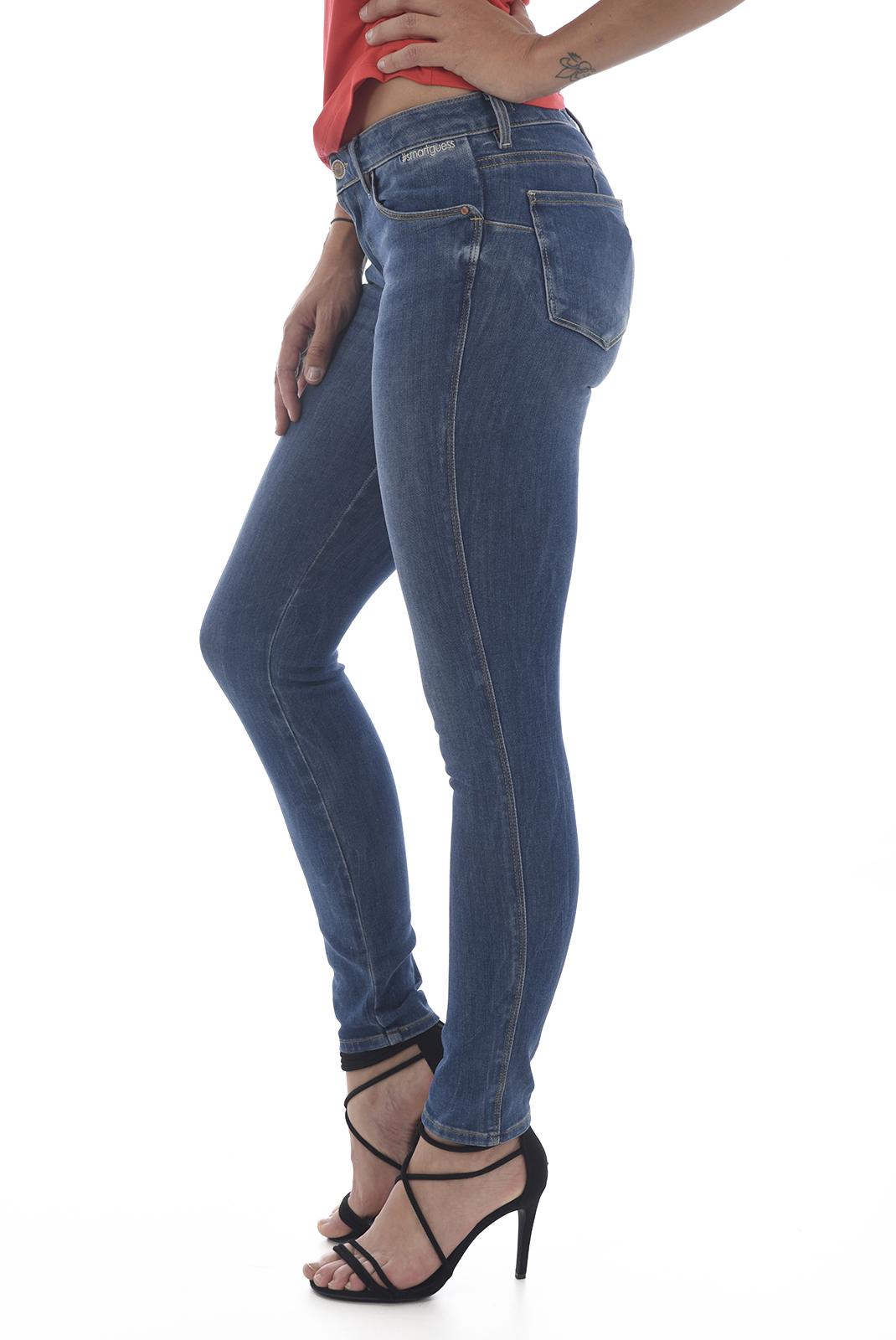 Jeans   Guess jeans W63AJ2 D27T2 curve x UNRIPPED BLUE KATA