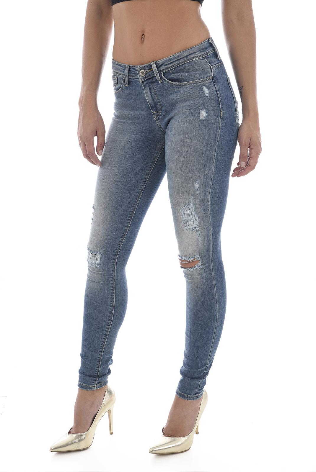Jeans   Only CARMEN REG SK MEDIUM BLUE DENIM