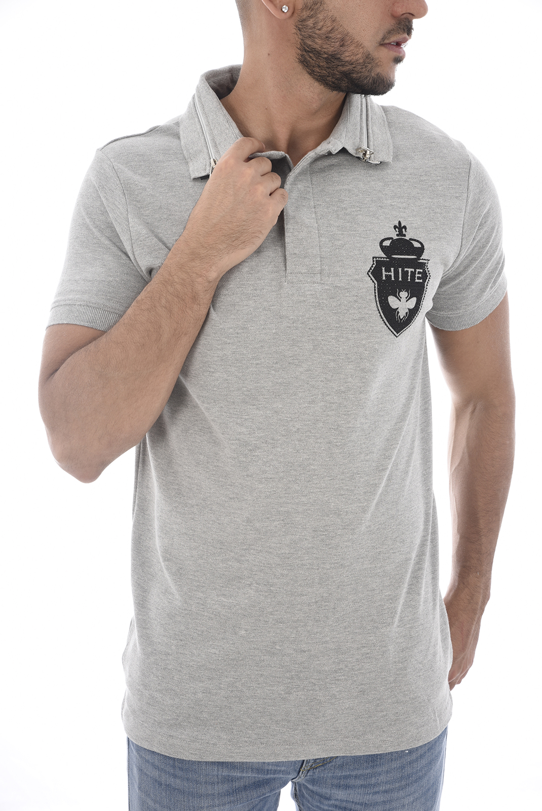 Tee-shirts  Hite couture PRISIER LIGHT GREY MEL