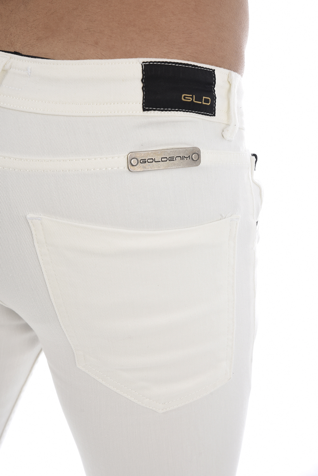 Jeans  Goldenim paris 1010 BLANC