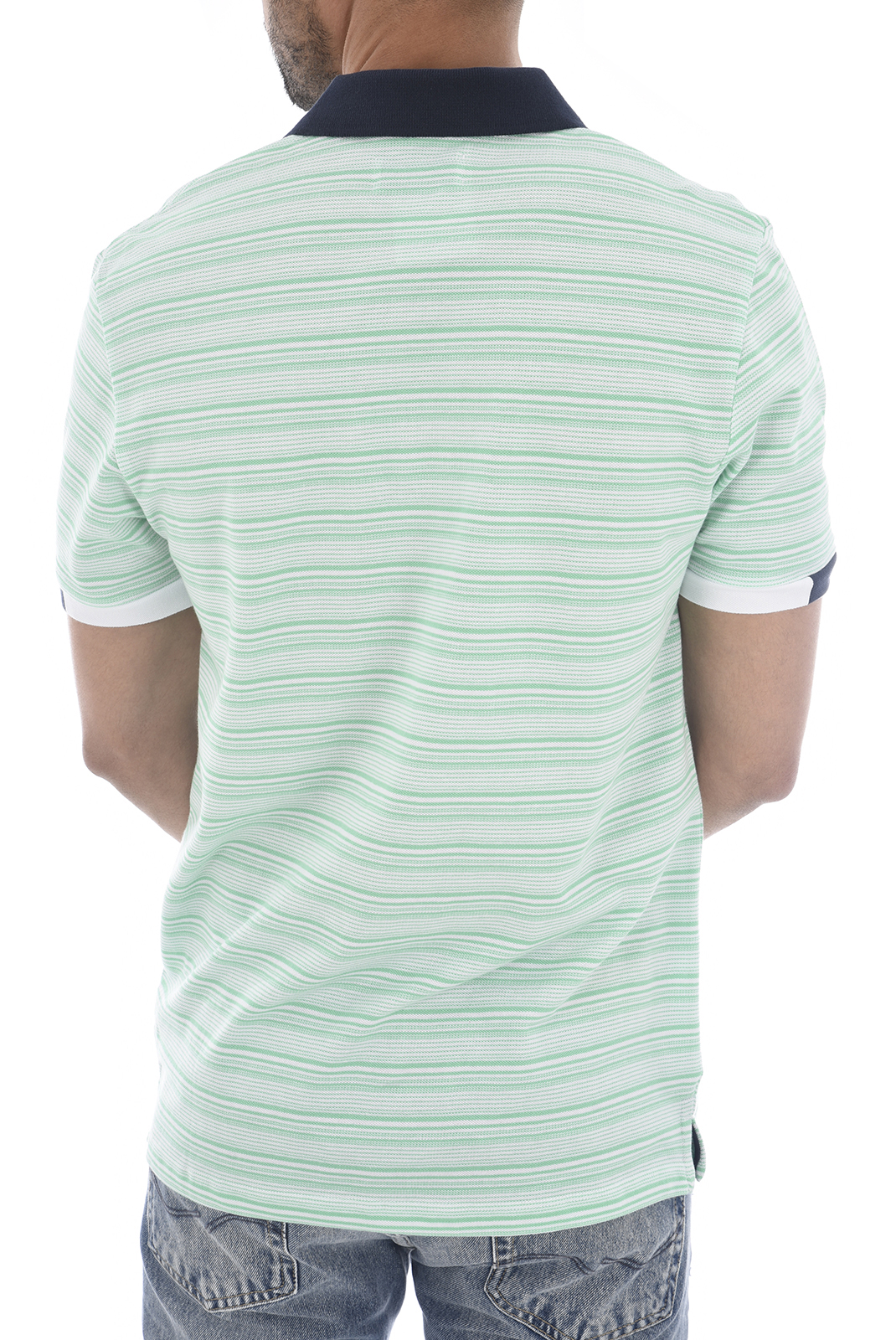 Polos  Jack & Jones STRIPE POLO WHITE/GREEN