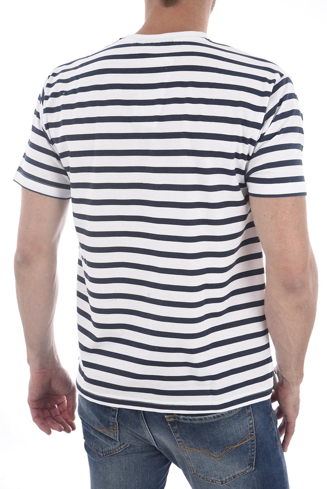 Tee-shirts  Apologize 002M WHITE/NAVY