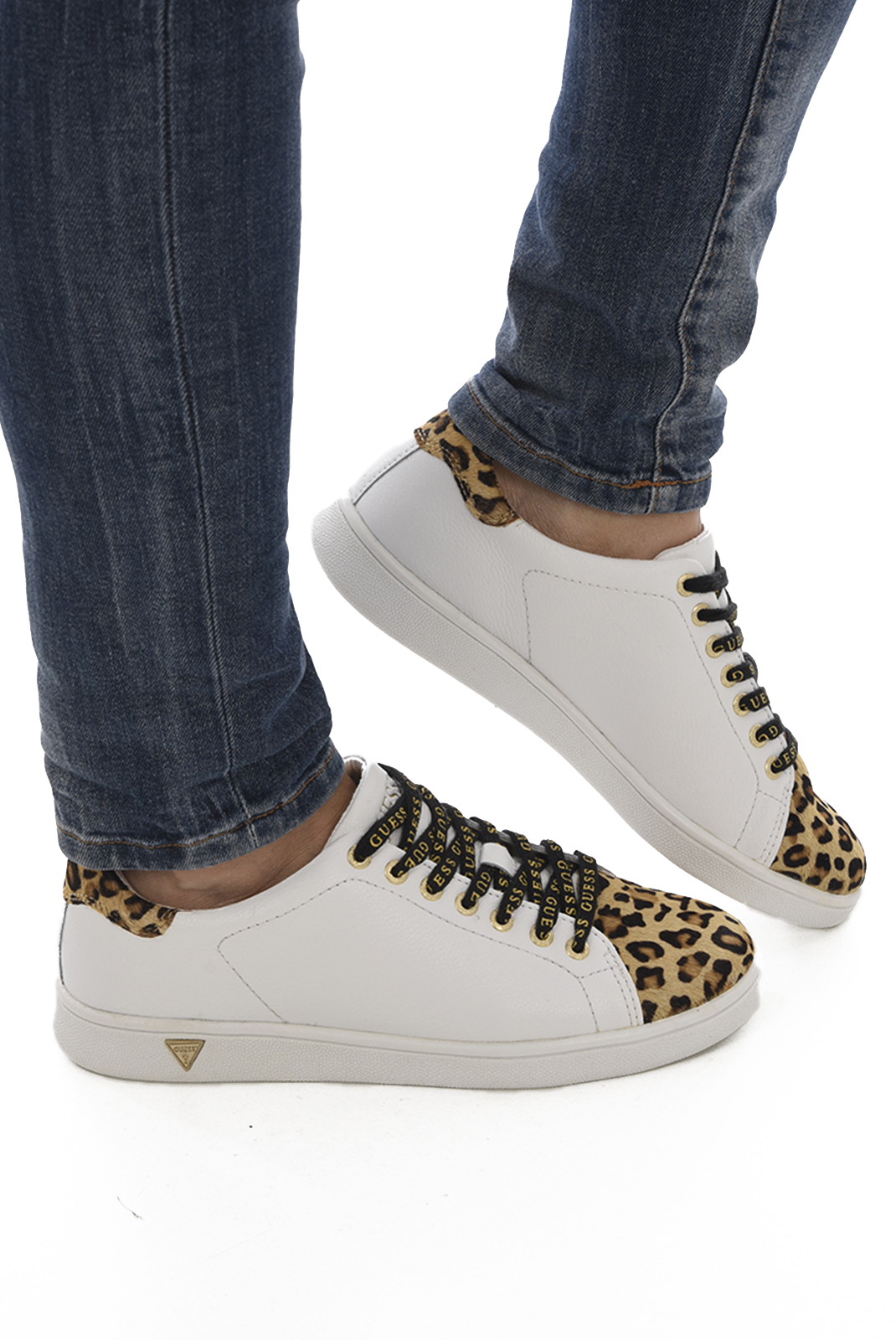 Baskets / Sneakers  Guess jeans SUPER FLUPE3 LEP12 WHITE LEOPARD