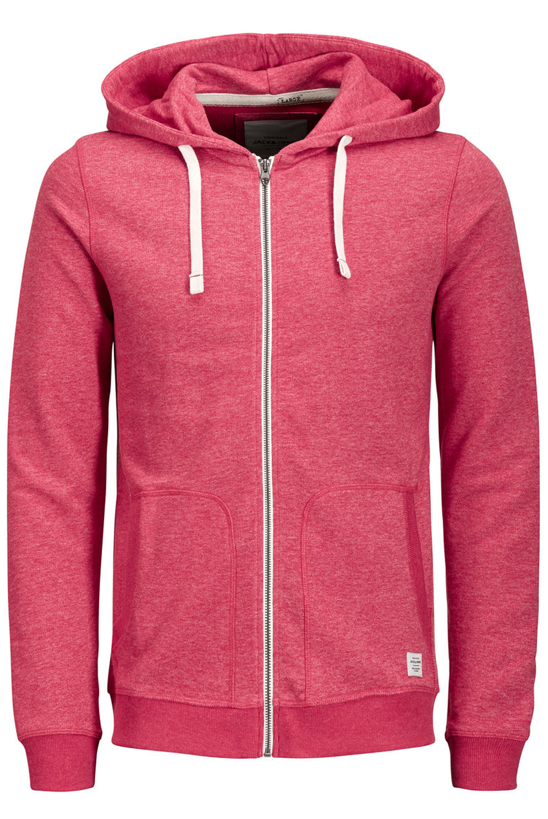 Vestes zippées  Jack & Jones RECYCLE SWEAT ZIP HOOD NOOS SCARLET