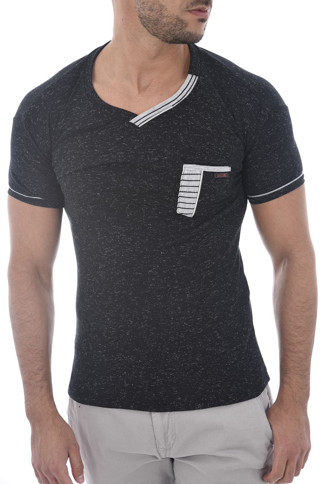 Tee-shirts  French eagle FE-17002 ANTHRACITE