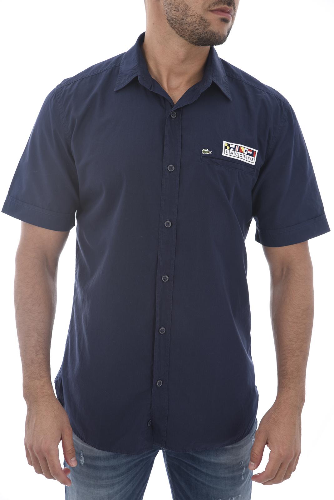 Chemises manches courtes  Lacoste CH6115 166 NAVY BLUE