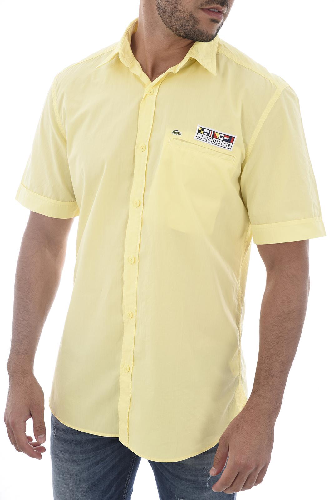 Chemises manches courtes  Lacoste CH6115 H9U CLEAR CITRONNELLE