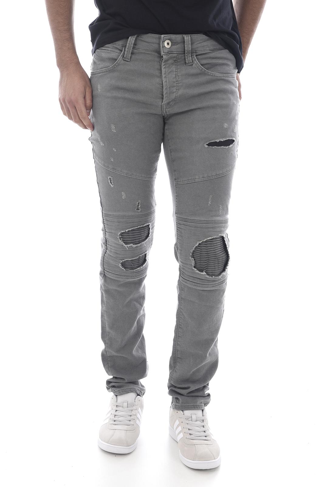Jeans  Jack & Jones GLENN JAAX BIKER DARK GREY
