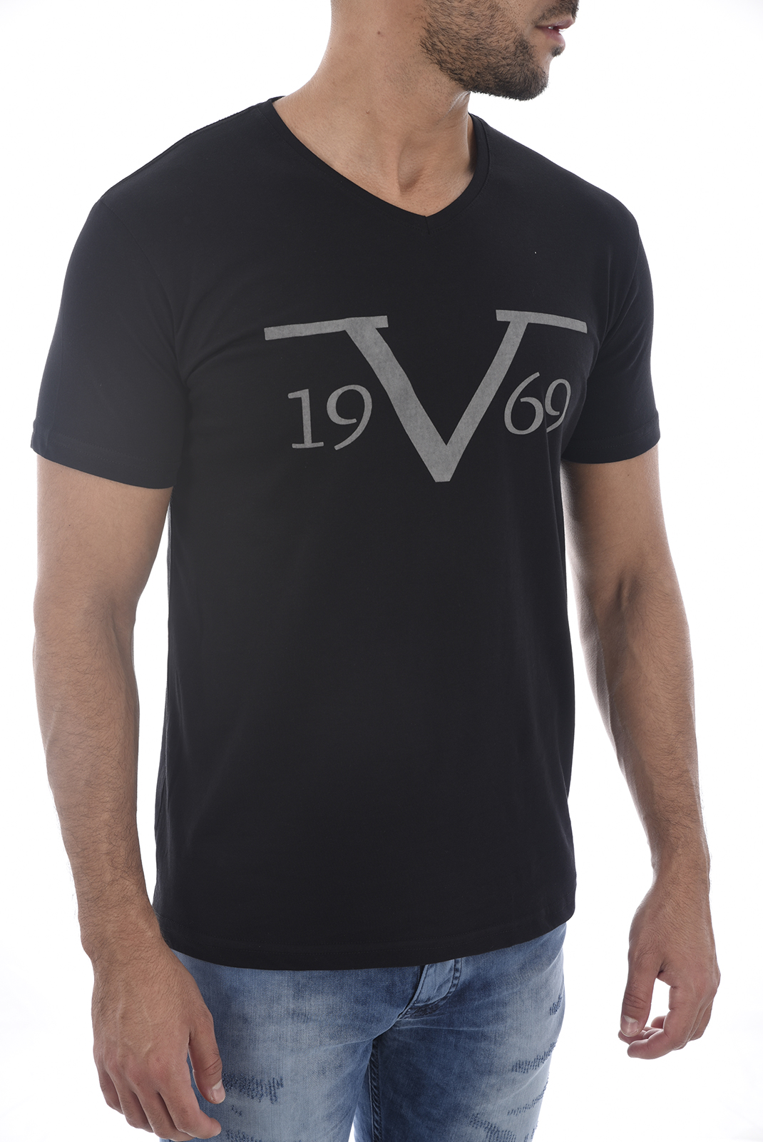 Tee-shirts  19V69 by Versace 1969 SALERNE 2 NOIR