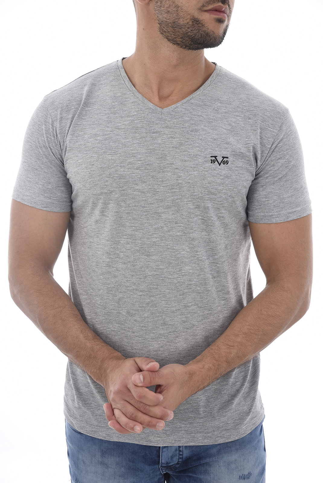 Tee-shirts  19V69 by Versace 1969 MODENE 2 GRIS CLAIR