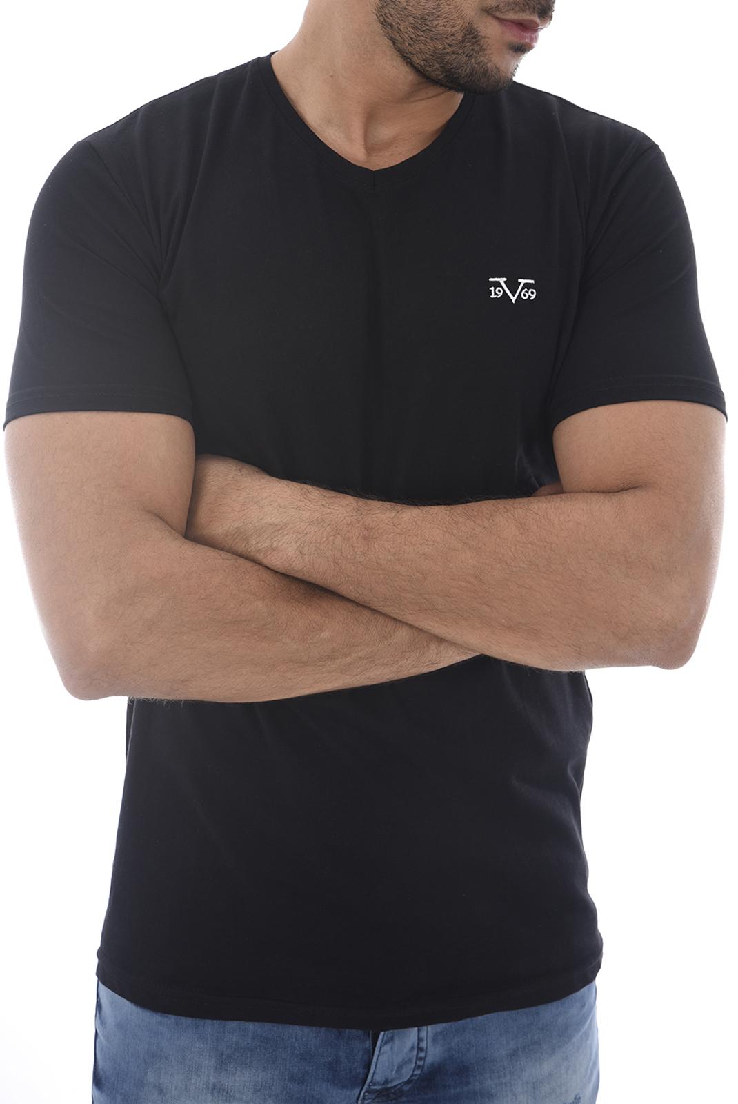 Tee-shirts  19V69 by Versace 1969 MODENE 2 NOIR