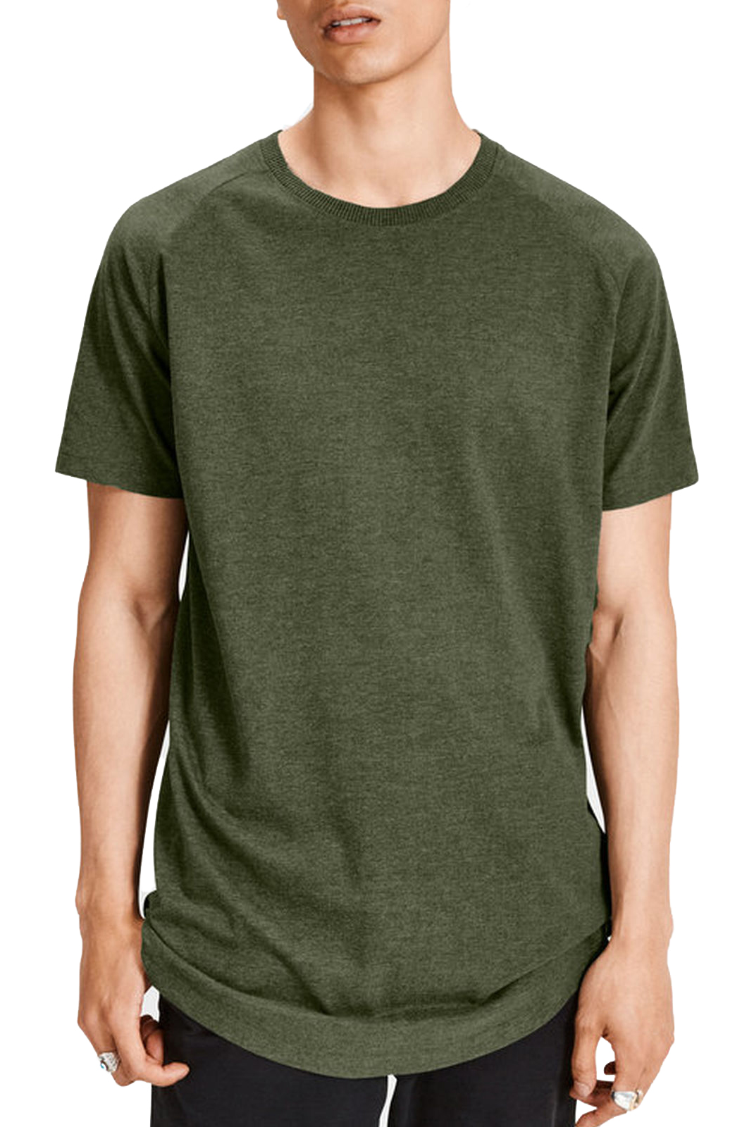 Tee-shirts  Jack & Jones RAFE TEE RIFLE GREEN