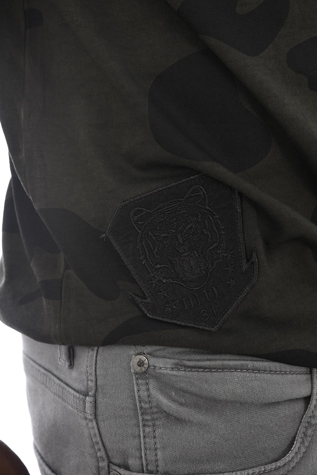 Tee-shirts  Hite couture MINIER CAMO KAKI