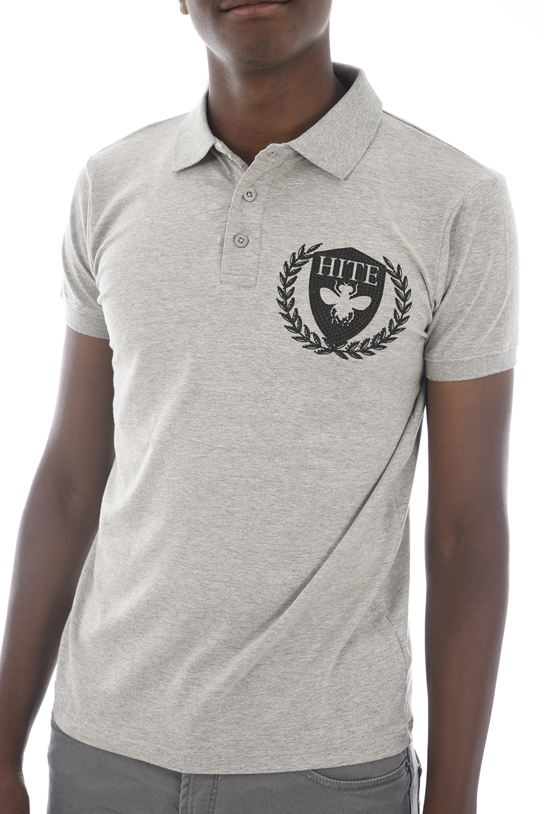 Polos  Hite couture PABRIT A LT GREY MEL