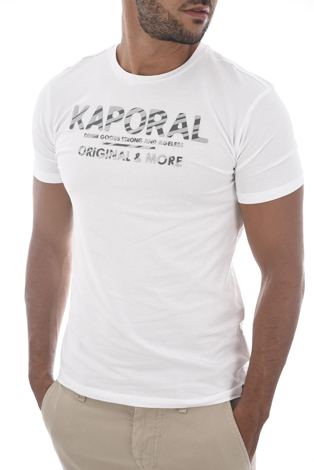Tee-shirts  Kaporal SINCE H18M12 WHITE