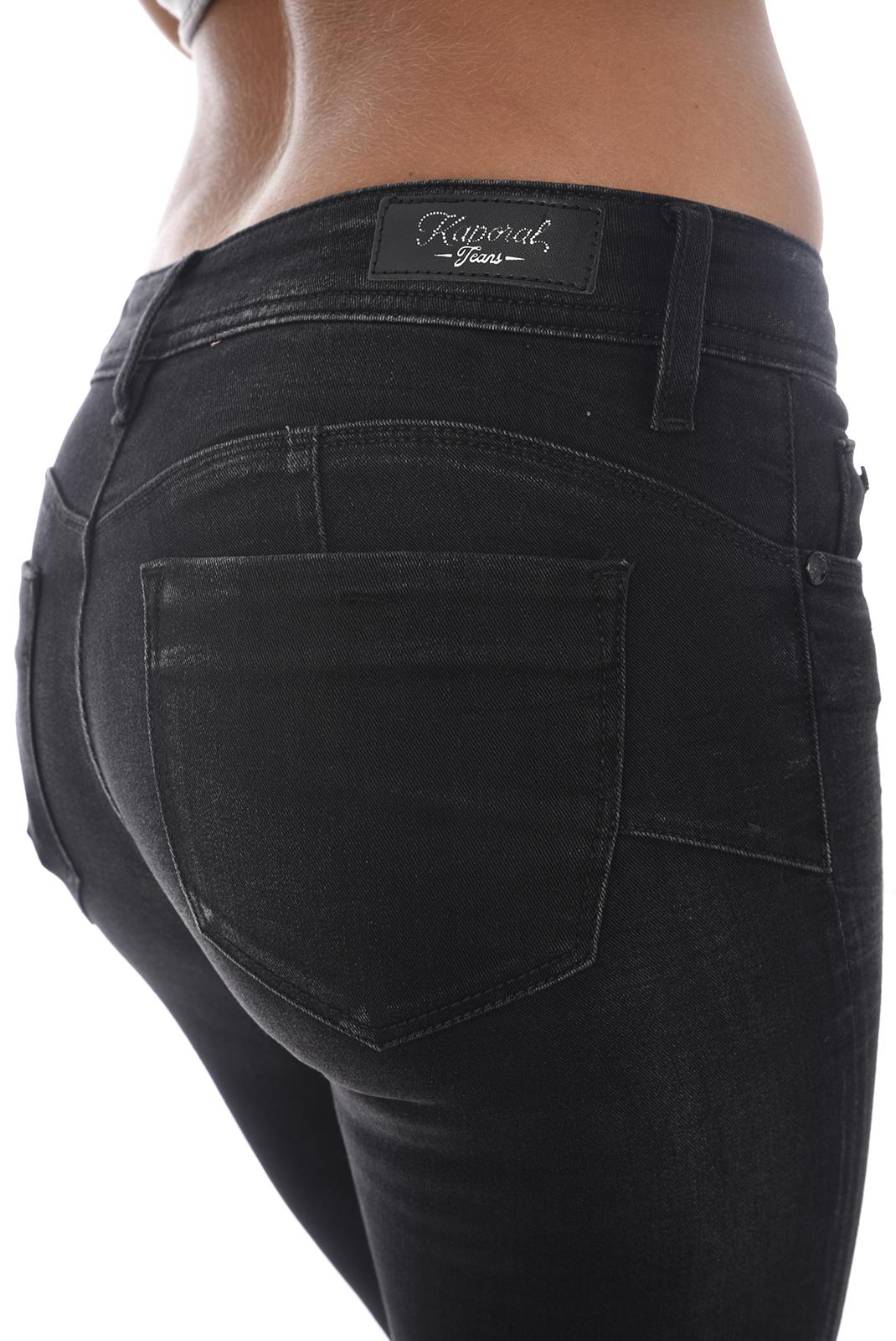 Jeans   Kaporal LOKA H18W7 OLD BLACK