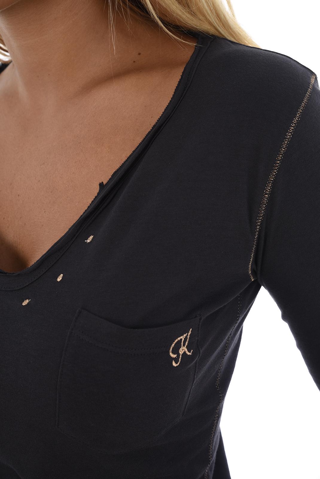 Tee shirt manches longues  Kaporal TANIO H18W12 DARK GREY
