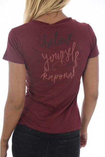 ccd08368e6af Tecil Shirt H18w11 Kaporal Tee Femme Raisin tPzqRF0w