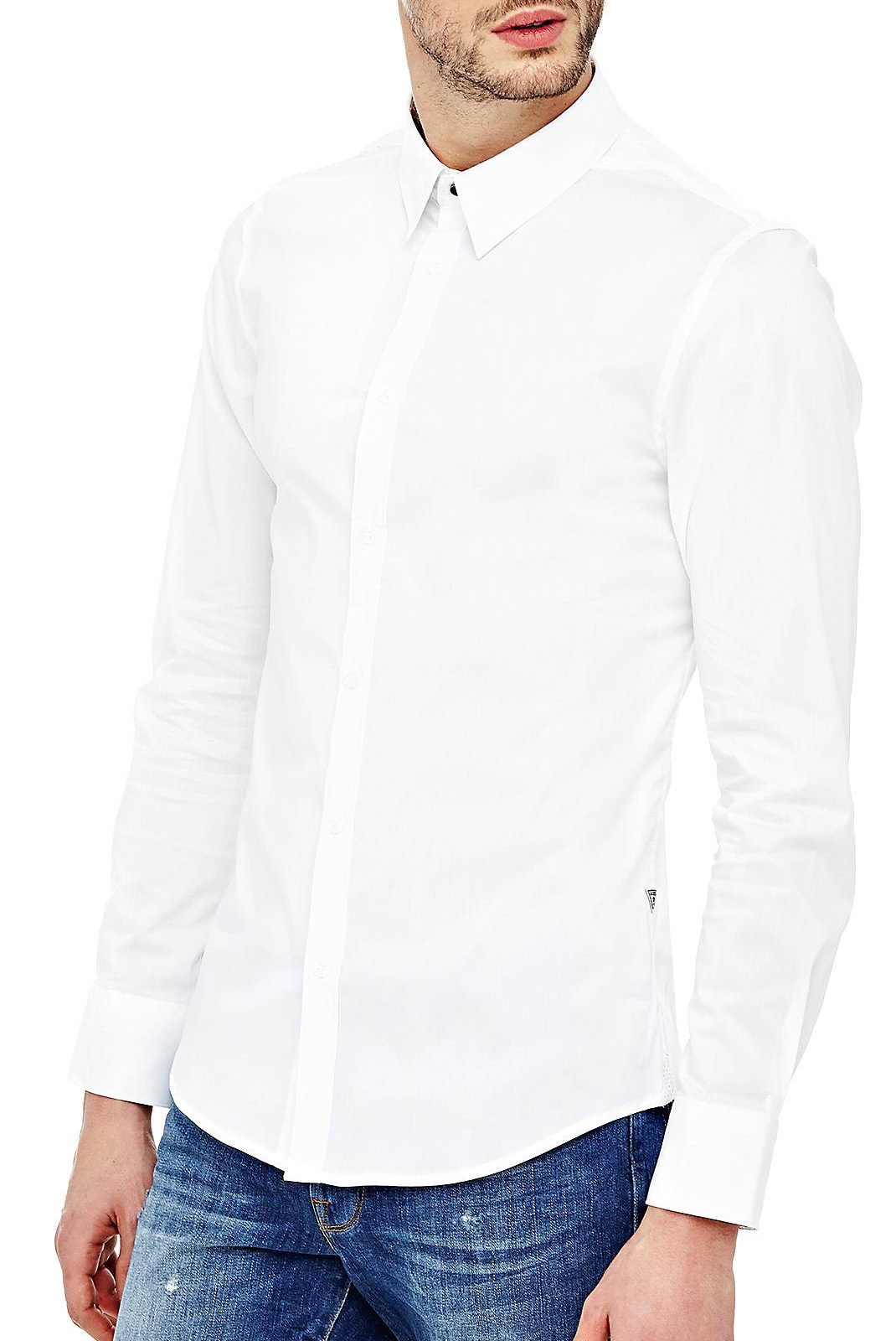 Chemises manches longues  Guess jeans M81H38 W7ZK0 A00 TRUE WHITE