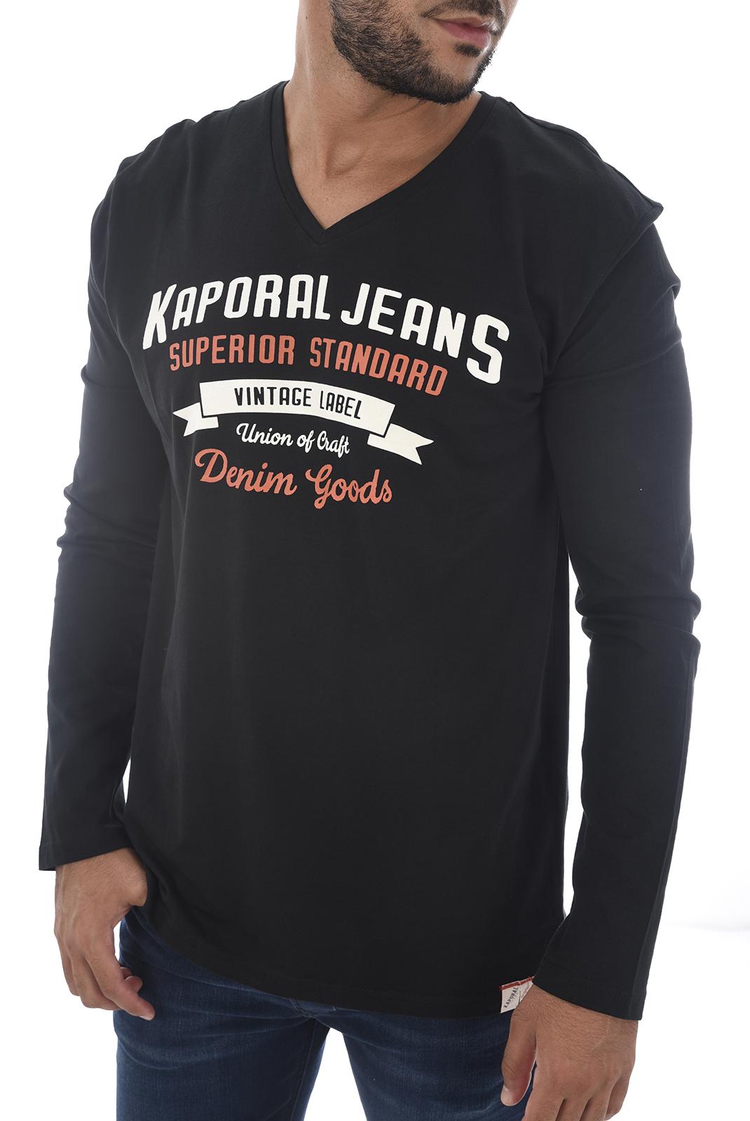 Tee-shirts  Kaporal FARTO H18M12 BLACK
