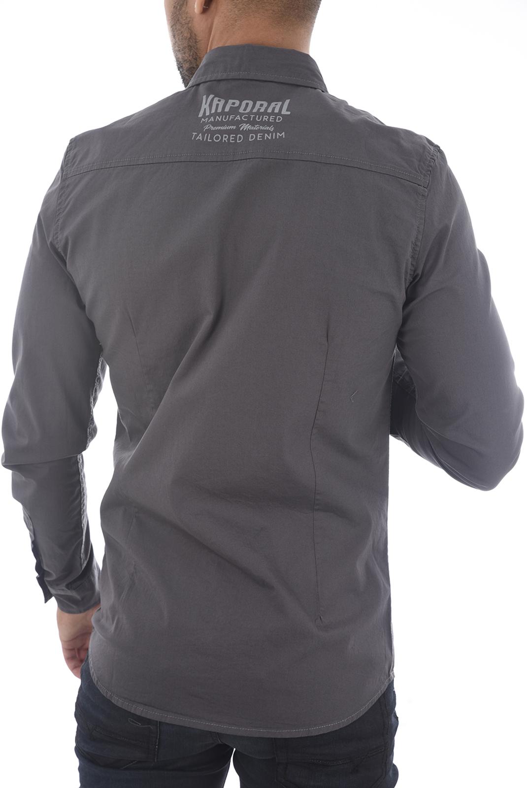 Chemises manches longues  Kaporal FIGO H18M42 TITANIUM