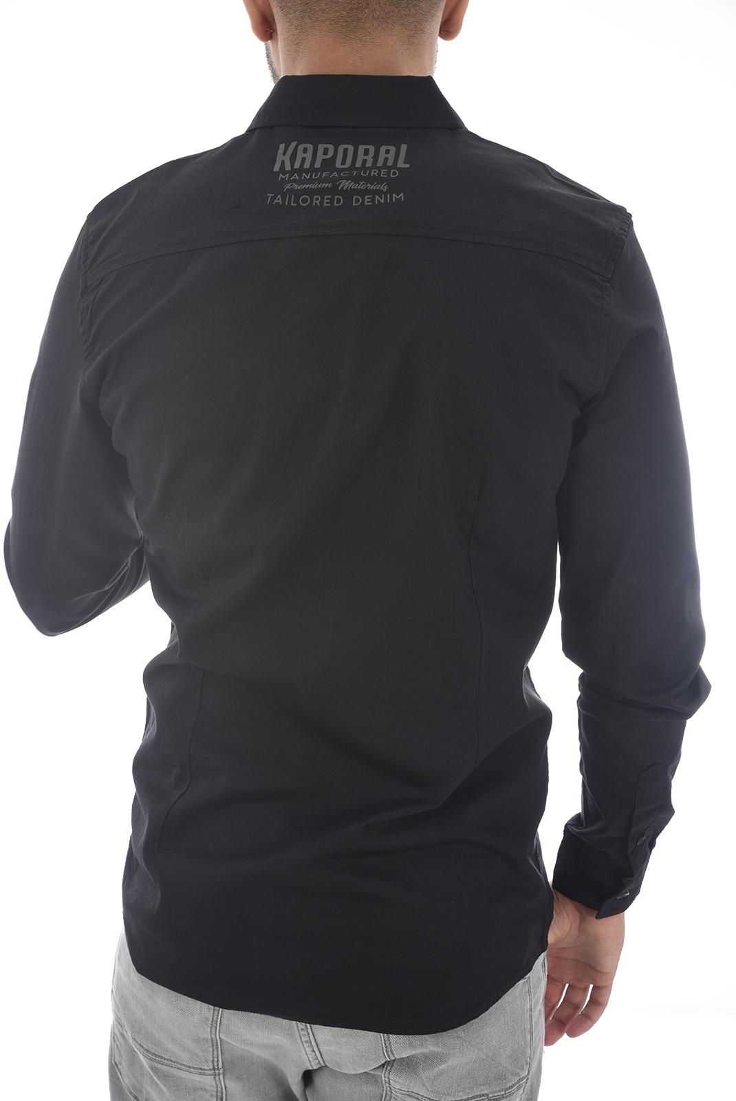 Chemises manches longues  Kaporal FIGO H18M42 BLACK